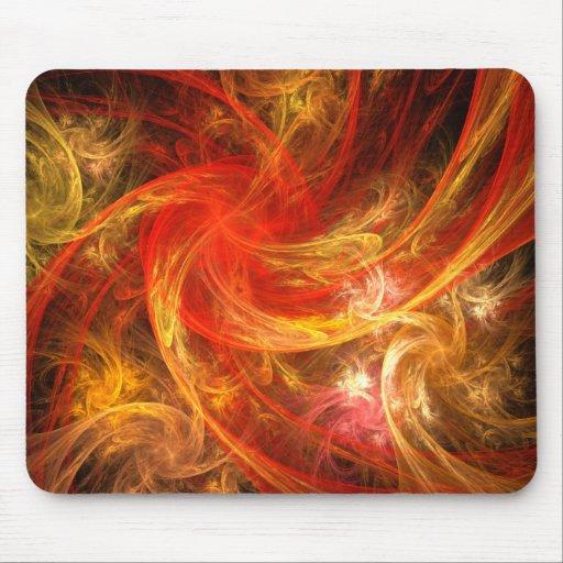 Firestorm Abstract Art Mousepad