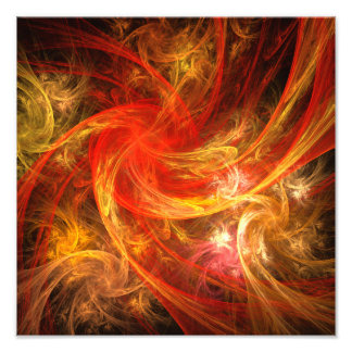 Firestorm Abstract Art Photo Print