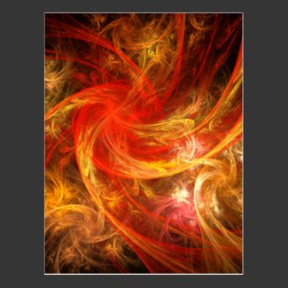 Firestorm Abstract Art Postcard