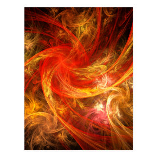 Firestorm Abstract Art Postcard