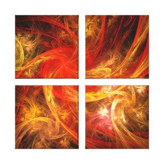 Firestorm Abstract Art Quad Canvas Print