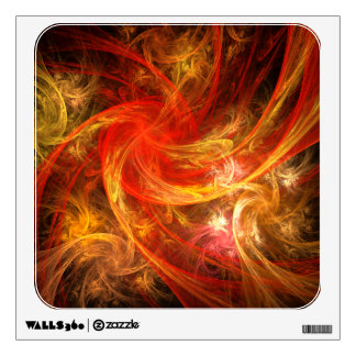 Firestorm Abstract Art Square Wall Decal
