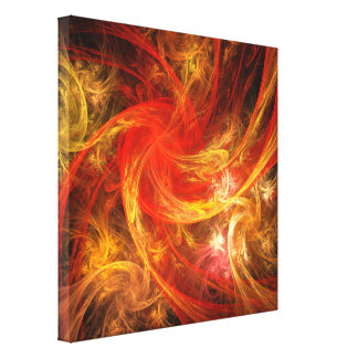 Firestorm Abstract Art Wrapped Canvas Print