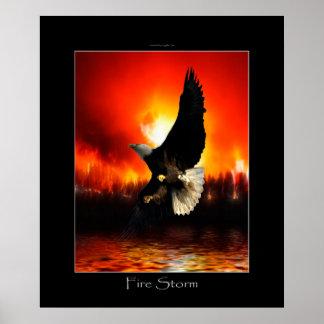 FIRESTORM Bald Eagle Art Poster