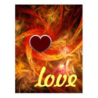 Firestorm Love Postcard