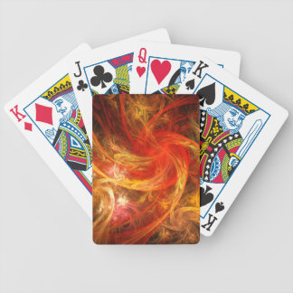 Firestorm Nova Abstract Art Bicycle Playing Cards