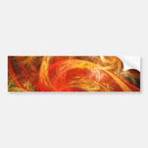 firestorm, abstract, art, bumper, sticker, Bumper Sticker with custom graphic design