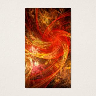 Firestorm Nova Abstract Art Business Card