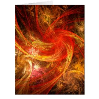 Firestorm Nova Abstract Art Card