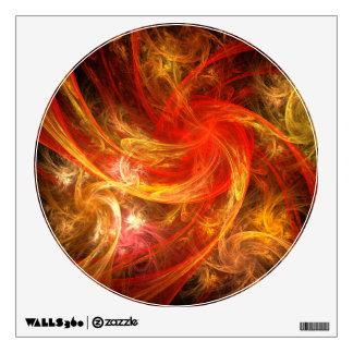 Firestorm Nova Abstract Art Circle Wall Sticker