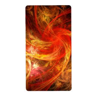 Firestorm Nova Abstract Art Fractal Label