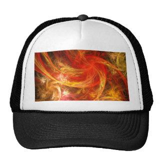 Firestorm Nova Abstract Art Hat