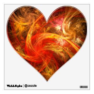 Firestorm Nova Abstract Art Heart Wall Sticker