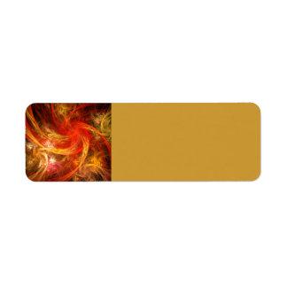 Firestorm Nova Abstract Art Label