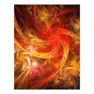 Firestorm Nova Abstract Art Letterhead