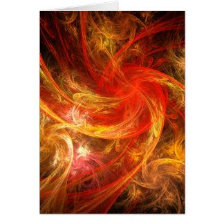 Firestorm Nova Abstract Art Note Card