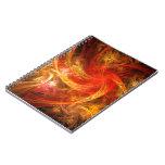 Firestorm Nova Abstract Art Notebook