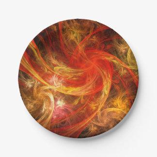 Firestorm Nova Abstract Art Paper Plate