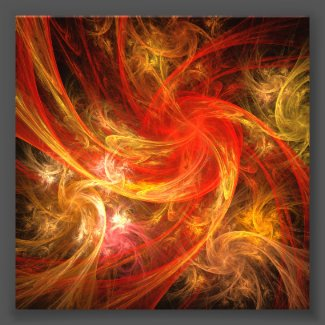 Firestorm Nova Abstract Art Photo Print