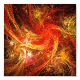 Firestorm Nova Abstract Art Photo Print