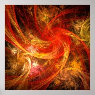 Firestorm Nova Abstract Art Poster