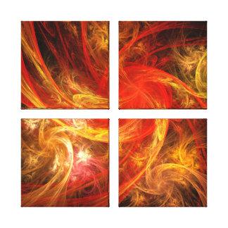 Firestorm Nova Abstract Art Quad Canvas Print