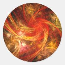 firestorm, abstract, art, round, sticker, Sticker with custom graphic design