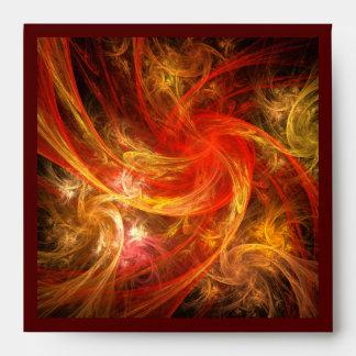 Firestorm Nova Abstract Art Square Envelope