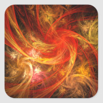 firestorm, abstract, art, square, sticker, Sticker with custom graphic design
