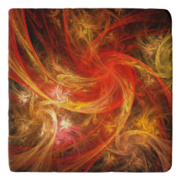 Firestorm Nova Abstract Art Stone Trivet