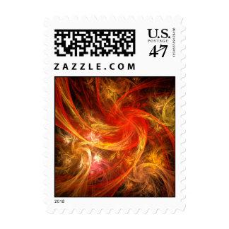 Firestorm Nova Abstract Postage Stamp