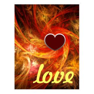 Firestorm Nova Love Postcard