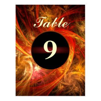 Firestorm Nova Table Number Postcard