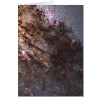 Firestorm of Star Birth in Galaxy Centaurus A Card