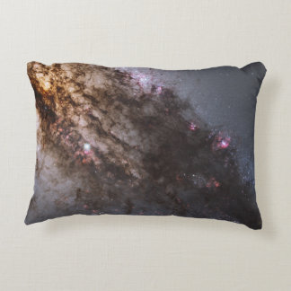 Firestorm of Star Birth in Galaxy Centaurus A Accent Pillow