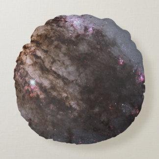 Firestorm of Star Birth in Galaxy Centaurus A Round Pillow