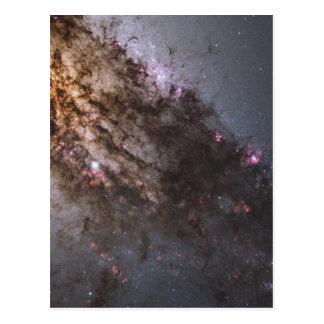 Firestorm of Star Birth in Galaxy Centaurus A Postcard