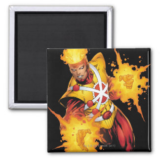 Firestorm Punch 2 Inch Square Magnet