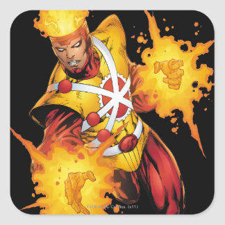 Firestorm Punch Square Sticker