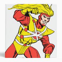 firestorm, nuclear, man, martin, stein, jason, rusch, ronnie, raymond, deathstorm, justice, league, heroes, logo, hero, comics, comic, book, batman, bat, dark, knight, superman, super, green, lantern, wonder, woman, shazam, arrow, hawk, plastic, fate, martian, manhunter, red, tornado, darkseid, aquaman, supergirl, Binder with custom graphic design