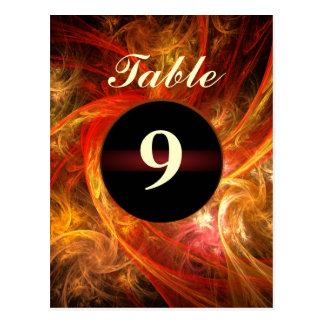 Firestorm Table Number Postcard