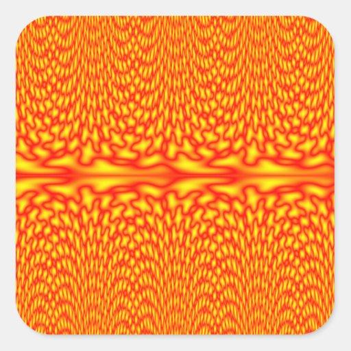 Firestorm waterfall square sticker