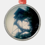 Firetower at the Grand Canyon Round Metal Christmas Ornament