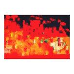 Firetown por el maxwell Kerr Impresión De Lienzo