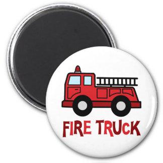 Firetruck 2 Inch Round Magnet