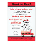 Firetruck and Dalmatian Engine 27 Baby Shower 5x7 Paper Invitation Card