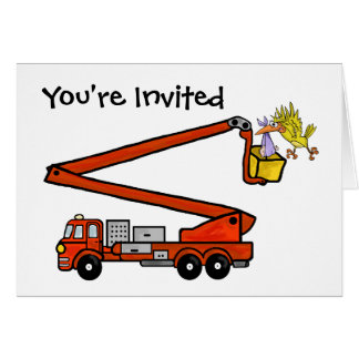 Firetruck Baby Shower Invitations   Customize It! Greeting Card