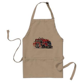 firetruck burnout adult apron
