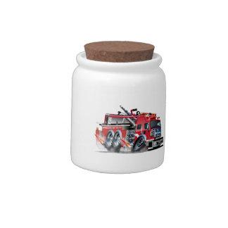 firetruck burnout candy jar