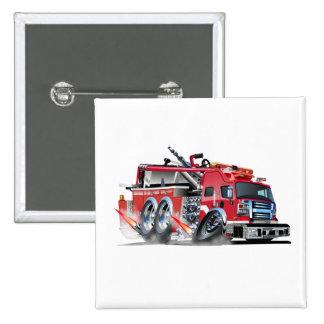 firetruck burnout pinback button